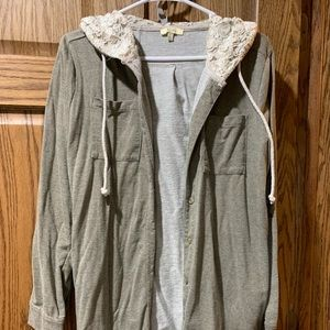 GUC Kori America button down hoodie size large